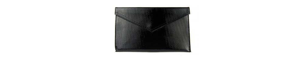 Kopertówki skórzane damskie -  torebki w wielu kolorach: czarne, szare, brązowe, we wzory