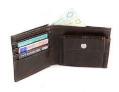 najwyższej jajkości portfel męski skórzany, na karty płatnicze